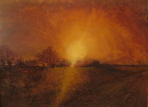Gino Amaddio Impressione di sole calante