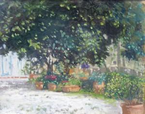 Gino Amaddio Ingresso con vaso di fiori