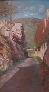 Gino Amaddio Salendo in via Santa Maria a Calci