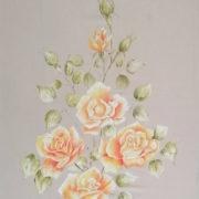 Vera Lowen delicato mazzo di rose 70x50