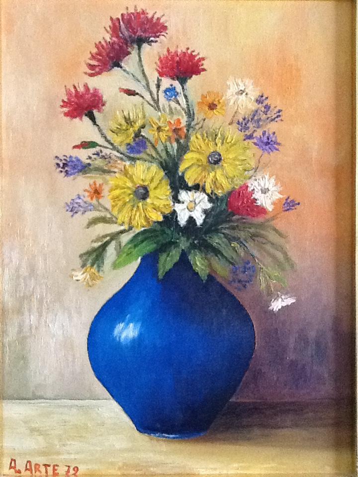 Antonio arte il vaso blu meloarte for Vaso blu