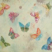 Vera LOwen farfalle su tela 82X103