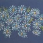 Vera Lowen  Fiorri azzurri 44x61