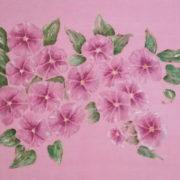 Vera Lowen fiori in rosa 65x87