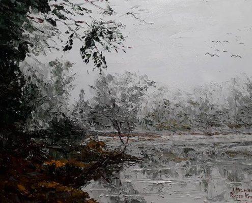 Marcello Russo Krauss pittura del paesaggio Pistoia